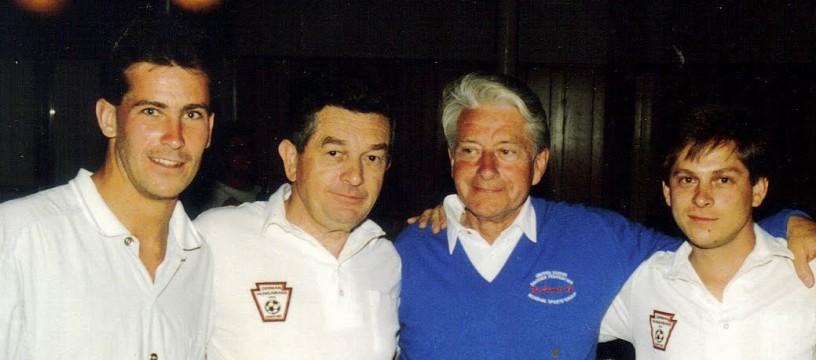 Werner Fricker (center left) and Gerhard Mengel (center right)